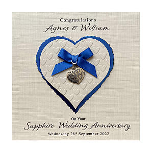 Personalised 45th Anniversary Card