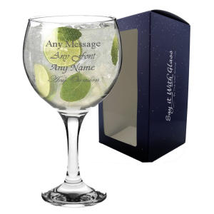Personalised 50th Gin Glass