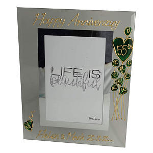 Personalised 55th Anniversary Photo Frame