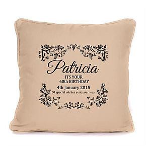 Personalised 60th Cushion