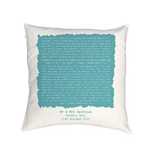 Personalised Anniverary Pillow Cushion Case