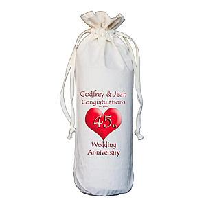 Personalised Anniversary Bottle Bag