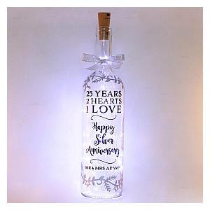 Personalised Anniversary Bottle Light