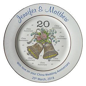 Personalised Anniversary China Plate