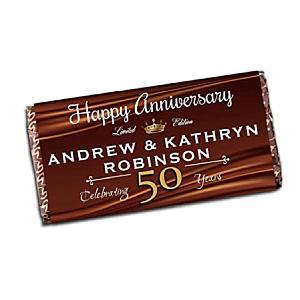 Personalised Anniversary Chocolate Bar