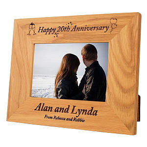 Personalised Anniversary Photo Frame
