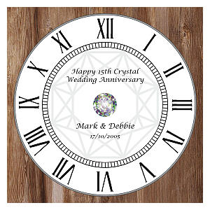 Personalised Anniversary Wall Clock