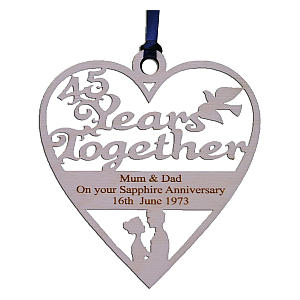 Personalised Anniversary Wooden Heart