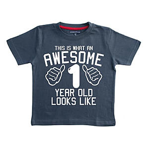 Personalised Awesome 1 Year Old Boy's T Shirt