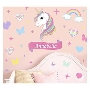 Personalised Colourful Unicorn Art