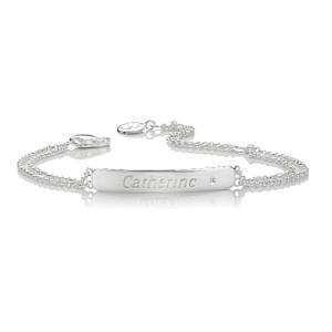 Personalised Diamond Christening Bracelet
