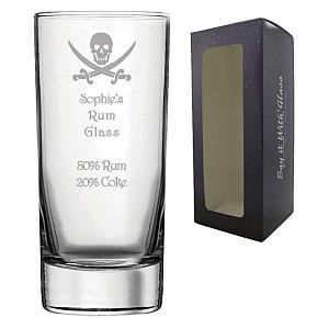 Personalised Engraved Rum Hi Ball Glass