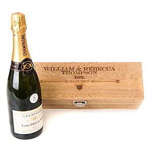 Personalised Engraved Wine Gift Box