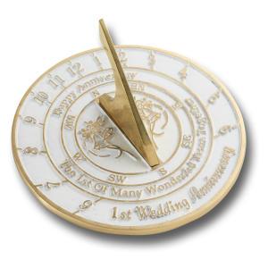 Personalised First Wedding Anniversary Sundial