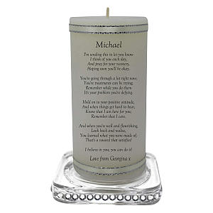 Personalised Get Well Soon Candle