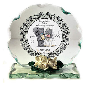 Personalised Glass Anniversary Plaque