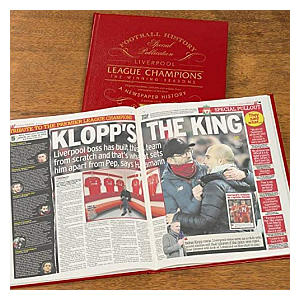Personalised Leather Bound Football Book