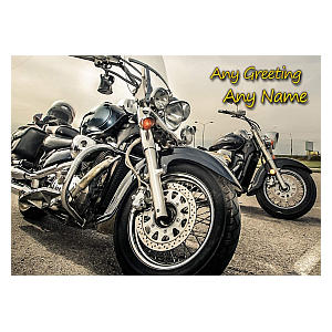 Personalised Motorcycle Any Occasion Card