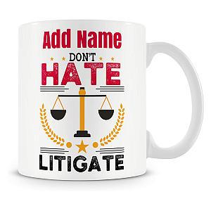Personalised Novelty Lawyer Mug