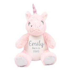 Personalised Pink Unicorn Teddy