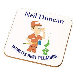 Personalised Plumber Coaster