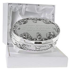 Personalised Rose Trinket Box