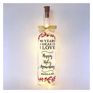 Personalised Ruby Light Up Bottle