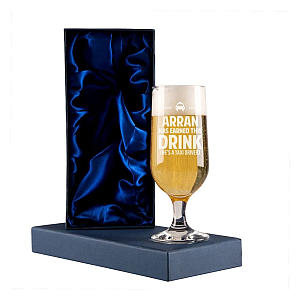Personalised Taxi Beer Glass