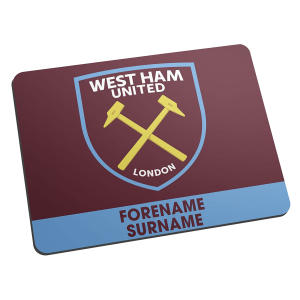 Personalised West Ham Mouse Mat