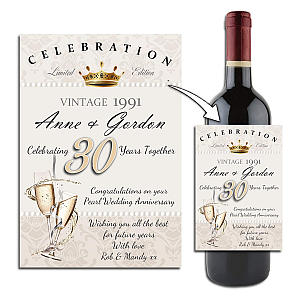 Personalised Wine Label