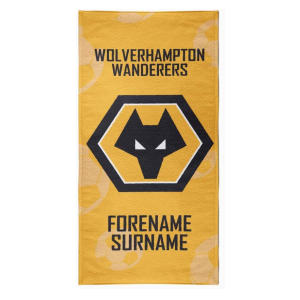 Personalised Wolves Crest Towel