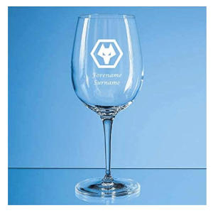 Personalised Wolves FC Wine Glass