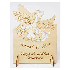 Personalised Wooden Card
