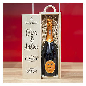 Personalised Wooden Wine Box Gift