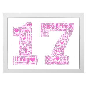 Personalised Word Art 17 Print