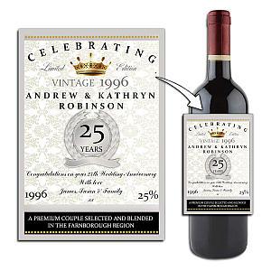 Personallised Wine Bottle Label