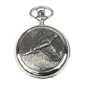 Pheasant Engraved Pocket Watch