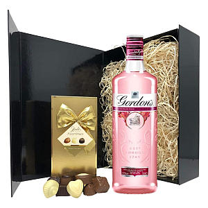 Pink Gin Set Including Chocolate Box