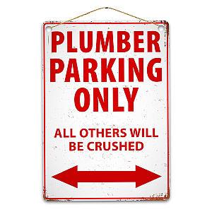 Plumber Parking Sign