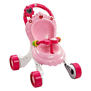 Princess Mommy Stroll-Along Musical Pushchair