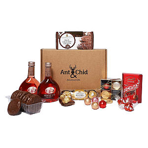 Red Rose Wine with Assorted Chocolates