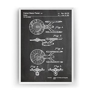 Retro Style Star Trek Print