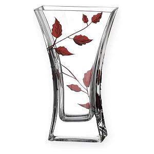 Ruby Leaf Tendril Column Vase