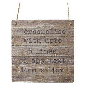 Rustic Personalised Wooden Sign