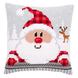 Santa Cross Stitch Cushion