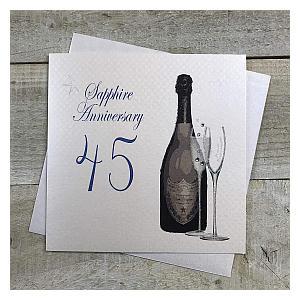 Sapphire Anniversary Card