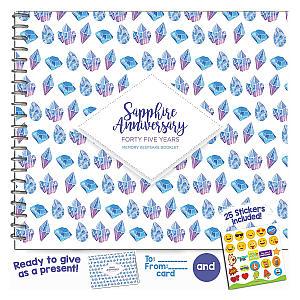 Sapphire Anniversary Memory Book