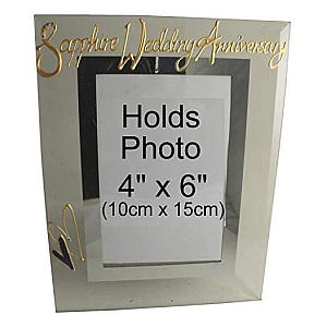 Sapphire Anniversary Photo Frame