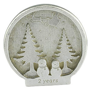 Second Anniversary Snow Globe