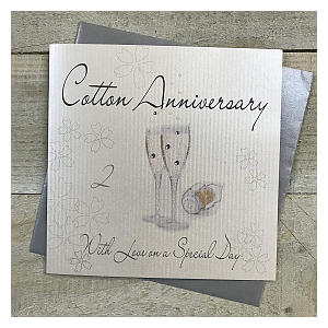 Second Wedding Anniversary Card